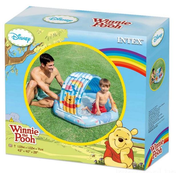 Детский надувной бассейн Intex 58415 «Винни Пух», 109 х 102 х 71 см, с навесом