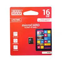 Карта памяти micro-SD 16Gb GOODRAM (10 CLASS)