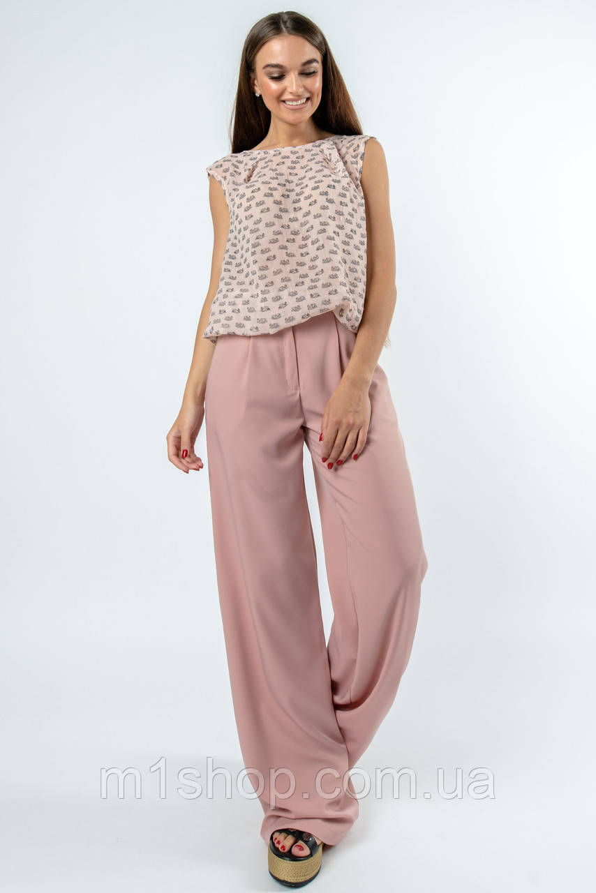 Женский костюм с блузкой и широкими брюками (Китти-Шер ri)