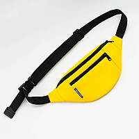 Поясная сумка Twins кожаная желтая, фото 1