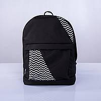 Рюкзак кожаный Twins mini с зигзагами черный