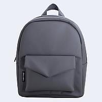 Рюкзак кожаный Twins темно-серый, фото 1