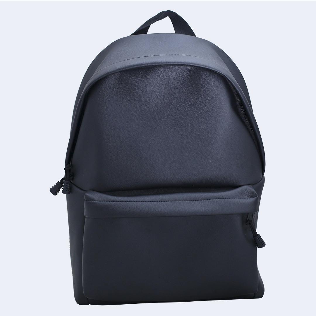 Рюкзак большой Twins кожаный черный