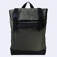 Рюкзак кожаный Twins Rolltop medium зеленый, фото 1