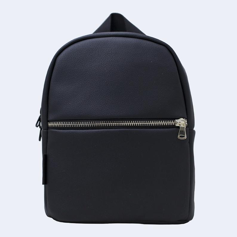 Рюкзак кожаный Twins small черный