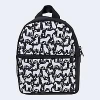 Рюкзак детский Twins с собаками черный