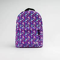Рюкзак Twins mini з єдинорогом аиолетовый, фото 1