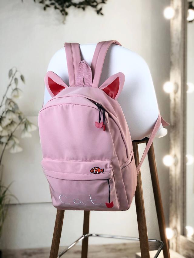 Рюкзак розовый из нейлона