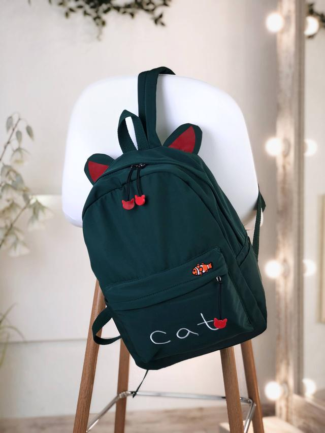 Рюкзак зеленый из нейлона