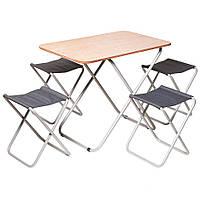 Комплект складной мебели для отдыха «Пикник» cтол + 4 стула (набір меблів для відпочинку)