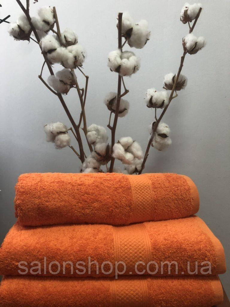 Махровое полотенце 50х100, 100% хлопок 550 гр/м2, Пакистан, Оранж