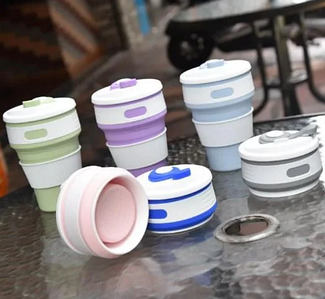 Складна силіконова термо-чашка SELICON MAGIC CUP Рожева