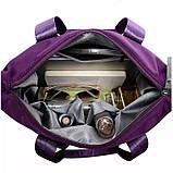 Тканинна модна жіноча сумка з кишенями ZA-2, фото 3