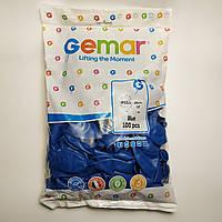 """Воздушные шары Gemar пастель 10""""(26 см) синий 100 шт"""