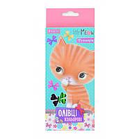 Олівці 12 кольорів Little meow, 1Вересня (12)