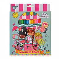 Олівці 24 кольора Rachel Balloon, Yes (6)