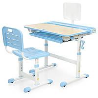 Парта ученическая детская Bambi M 3823A(2)-4 Голубая | Комплект растущая парта и стул