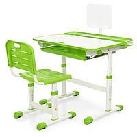 Парта ученическая детская Bambi M 3823A-5 Зеленая | Комплект растущая парта и стул