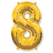 "Фольгована кулька цифра золотий ""8"" 40"" Китай"