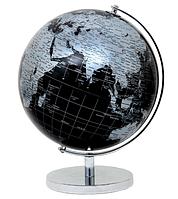 Глобус 20 см диаметр черно-серый