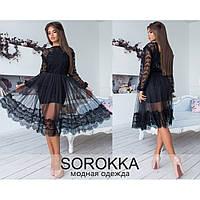 Платье женское вечернее черное Антонио 7088