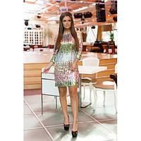 Нарядное платье из пайеток Фьюжн 025