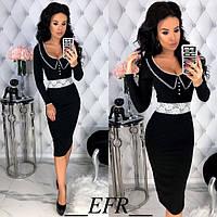 Стильное платье женское Рубчик 42613