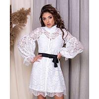 Платье женское нарядное Двойка ( туника,платье-майка) 4454