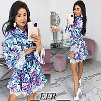 Платье стильное с широким рукавом женское 46532