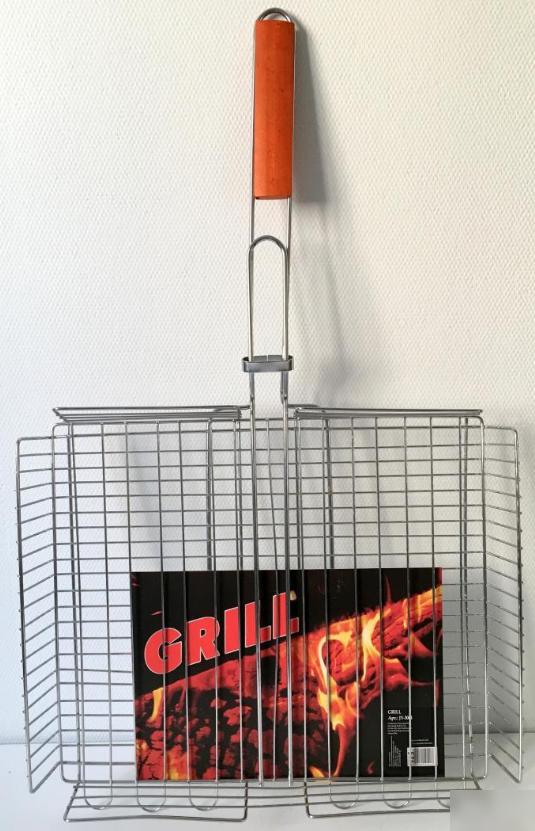 Решетка для гриля, барбекю регулируемая глубокая 30x40x60 см