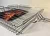 Решетка для гриля, барбекю регулируемая глубокая 30x40x60 см, фото 2