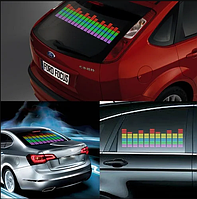 Светодиодный эквалайзер на заднее стекло автомобиля с автоматической подстройкой под ритм музыки 70*16см