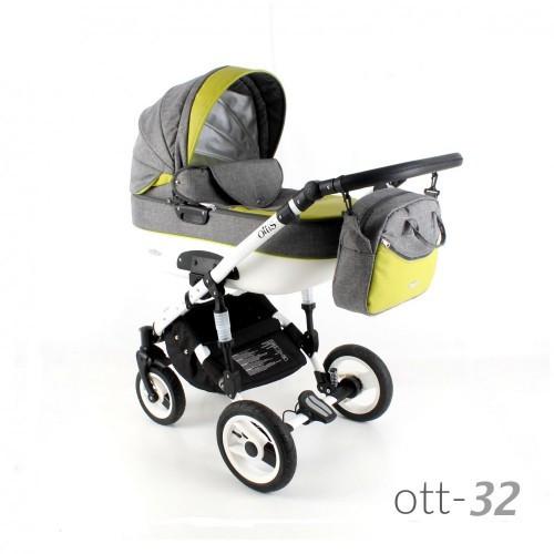 Коляска 3в1 ADBOR OTTIS OTT-32 желтая