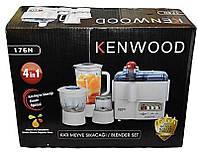 Многофункциональный Кухонный комбайн Kenwood 176N 4 в 1, соковыжималка, блендер, гриндер, измельчитель 400Вт