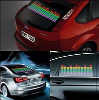 Светодиодный эквалайзер на заднее стекло автомобиля с автоматической подстройкой под ритм музыки 80*16см