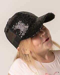 Яскрава кепка для дівчинки на літо оптом - Артикул 62017-15 чорна
