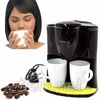 Капельная кофеварка Crownberg CB-1560 на 2 чашки (600W)