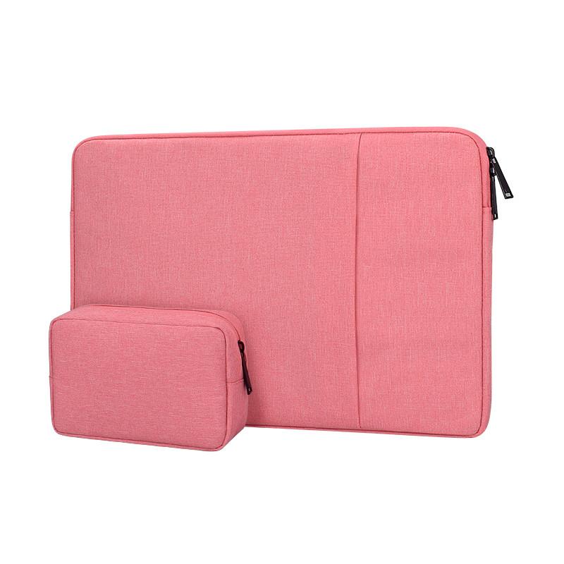 Чехол для Macbook Air/Pro 13,3'' + чехол для зарядного устройства - розовый