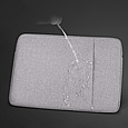 Чехол для Macbook Air/Pro 13,3'' + чехол для зарядного устройства - темно синий, фото 5