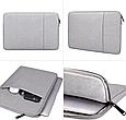 Чехол для Macbook Air/Pro 13,3'' + чехол для зарядного устройства - темно синий, фото 6