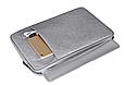 Чехол для Macbook Air/Pro 13,3'' + чехол для зарядного устройства - темно синий, фото 7