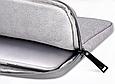Чехол для Macbook Air/Pro 13,3'' + чехол для зарядного устройства - темно синий, фото 8