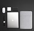 Чехол для Macbook Air/Pro 13,3'' + чехол для зарядного устройства - темно серый, фото 4
