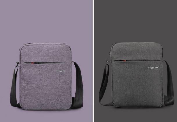 Сумка для планшета на плечо Tigernu 26*21*6 см (Светло серый)