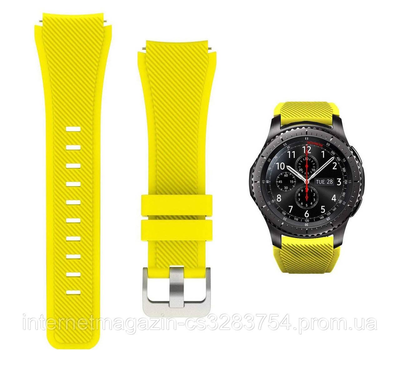 Ремешок 22 мм BeWatch ECO для Samsung Galaxy Watch 46mm | Samsung Gear S3 Желтый (1021120.3)