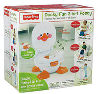 Музыкальный горшок 3 в 1 весёлая утка Fisher-Price Ducky Fun 3-in-1 Potty