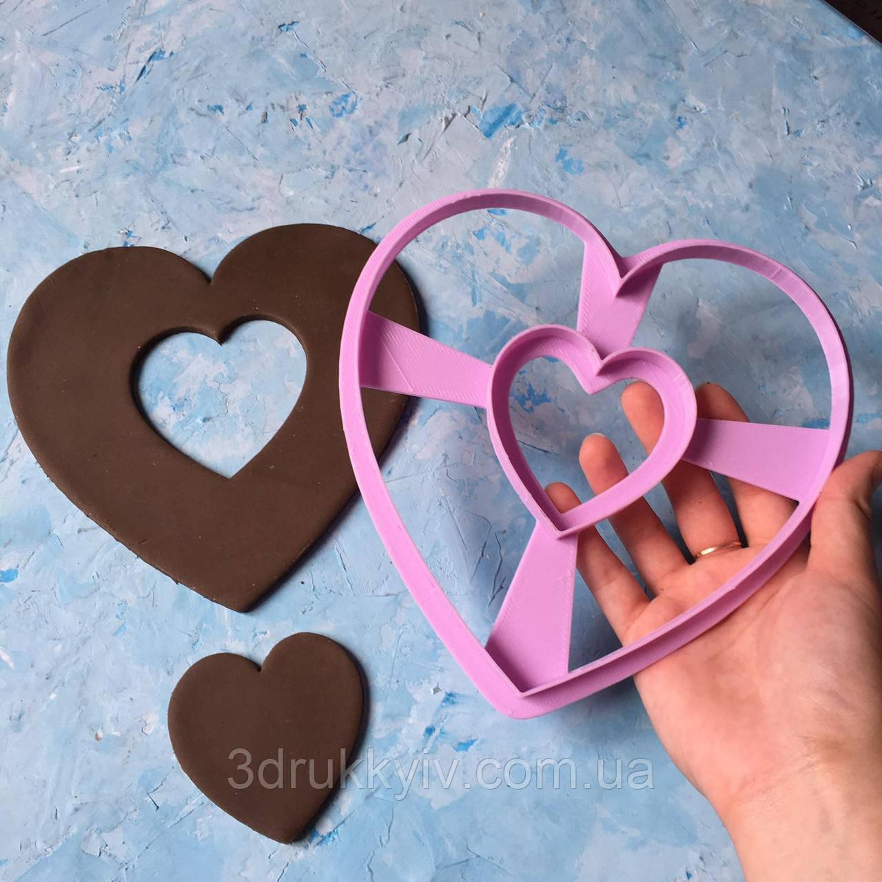 Вирубка ТОРТ - СЕРЦЕ 17см. / Вырубка - формочка для торта - сердца, коржей 17 см. / Торт - сердце