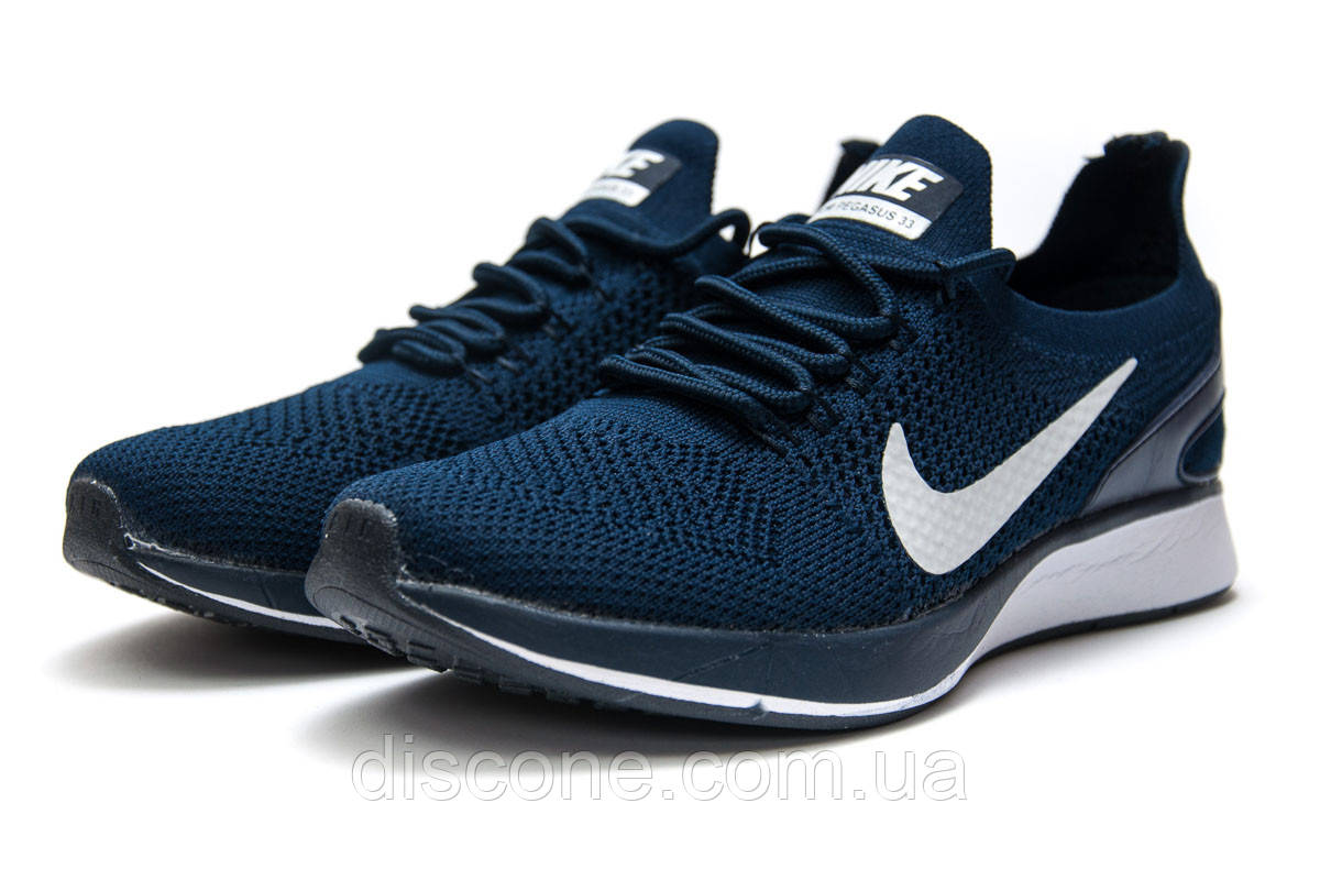 Кроссовки женские 12872 ► Nike Zoom Pegasus 33, темно-синие ✅Скидка 28% [ 36 37 38 ] ► (36-22,6см)