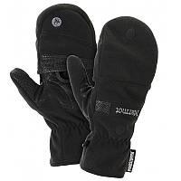 2 в 1 Перчатки + рукавицы мужские MARMOT Windstopper Convertible Glove, черные (р.M)