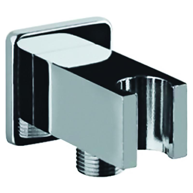 Тримач д/лійки з підключ., квадратний, хром (SHA-566S)
